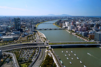 Landscape of Shinano River and Niigata city Stock photo [2779503] Shinano