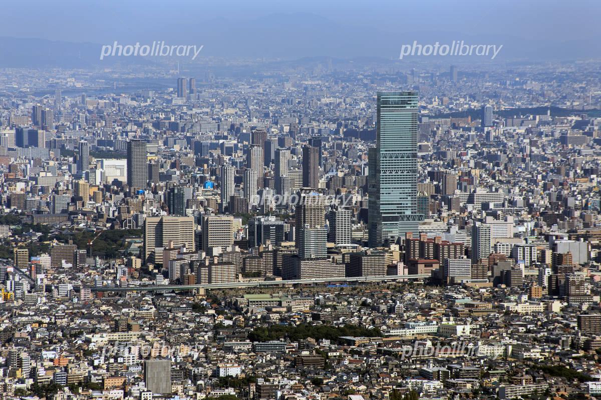 Aerial Osaka Tennoji of Abeno Harukasu Photo