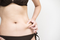 Swimsuit woman of pinching the stomach Stock photo [2862068] Swimsuit