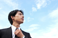 Newcomer businessman to look up at the sky Stock photo [2866235] Man