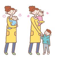 Women raising children Female