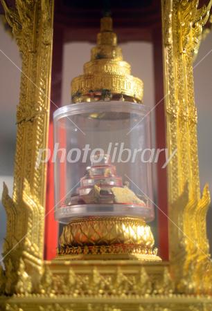 インド国立博物館で展示中の仏舎...