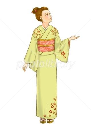 梅柄の着物女性 イラスト素材 2946694 フォトライブラリー