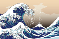 Katsushika Hokusai Thirty-six Views of Mount Fuji Great Wave Off Kanagawa image [2942769] Sea