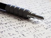 Ballpoint pen and character (graffiti) Stock photo [2949620] Pen