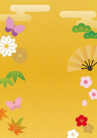 Colorful background material of Japanese style [2950400] Japanese