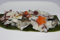 Handmade sandfish sushi �