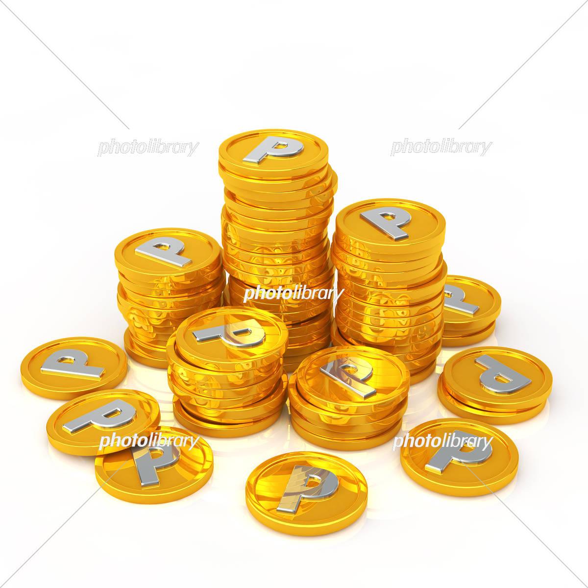 Point coin イラスト素材