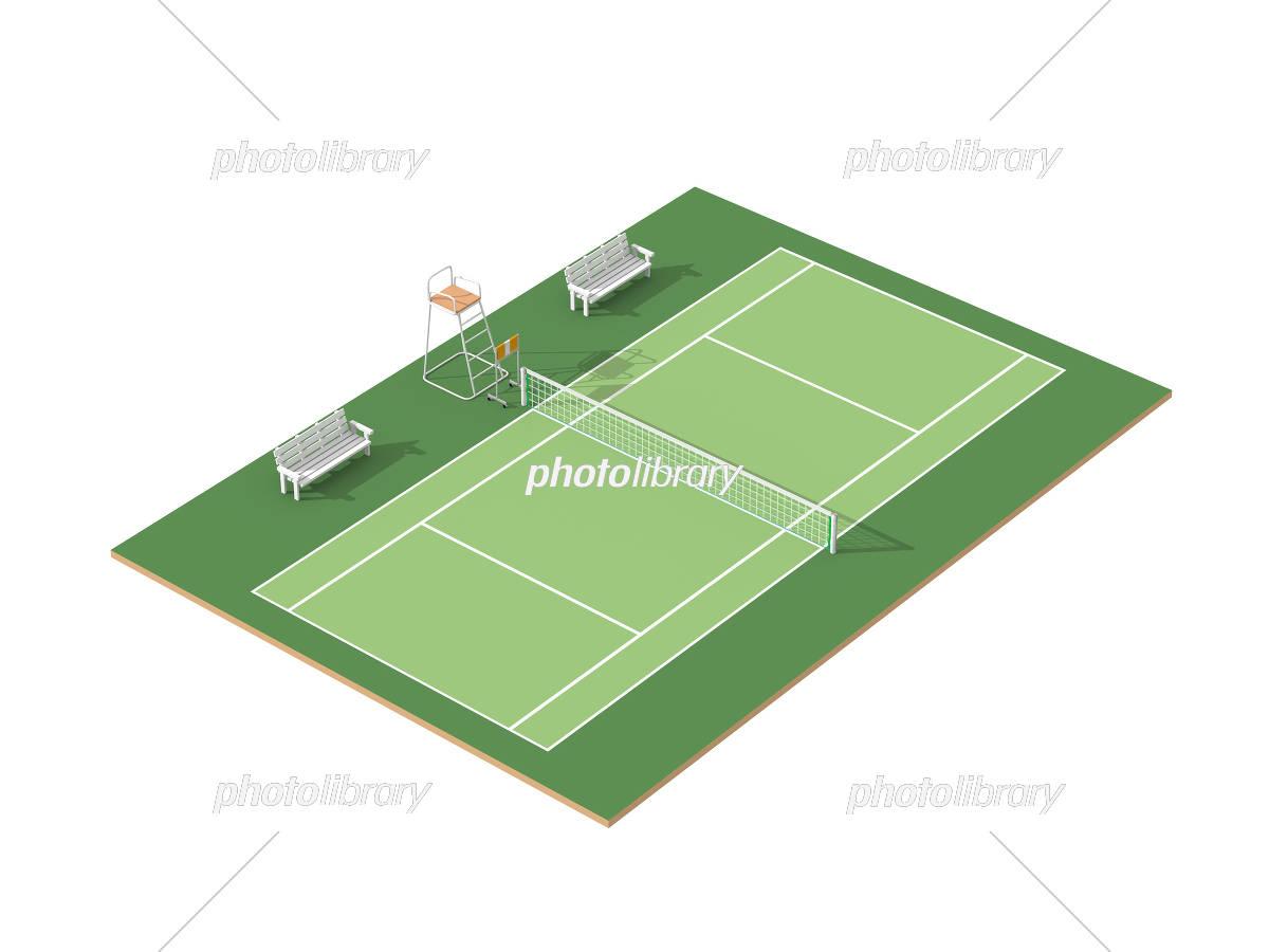 テニスコート イラスト素材 3118749 フォトライブラリー Photolibrary