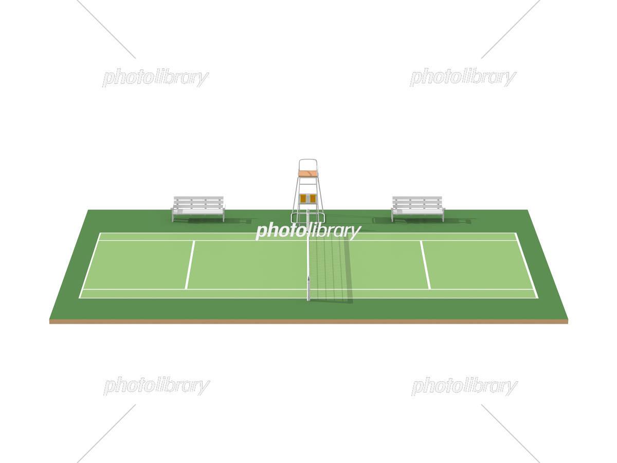 テニスコート イラスト素材 3118751 フォトライブラリー Photolibrary