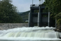 裾花川のダム
