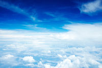 Sky above the clouds Stock photo [3121589] Blue