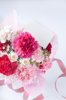 Bouquet and message card Stock photo [3218824] Bouquet