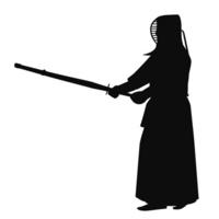 Kendo silhouette [3219920] Kendo