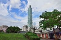 四四南村から見た台北101