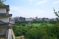 明石城から見た明石トーカロ球場