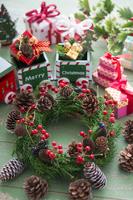Christmas wreath gift box Stock photo [3317757] Christmas
