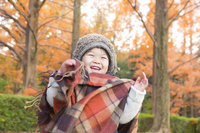 Children of autumn leaves and smile Stock photo [3317883] Autumn