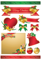 Christmas ribbon frame [3324275] Christmas