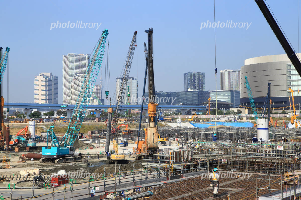 Tokyo Olympic facility construction site Photo