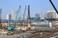 Tokyo Olympic facility construction site Stock photo [3408772] Construction