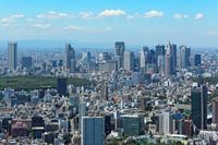Skyscrapers of Shinjuku and blue sky Stock photo [3410922] Opera