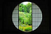 Garden Yoshino window of 芬陀 Institute stock photo