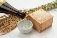 Rice and Beishiro back pour sake Stock photo [3416248] Japanese