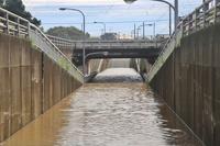 Heavy rain flooding Stock photo [3418809] Oiso