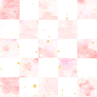 Sakura checkered paper style [3418951] Cherry