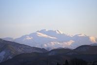 冬の白山、夕方