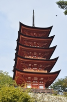 Itsukushima Shrine five-story pagoda Stock photo [3509799] Itsukushima
