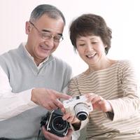 Senior couple View image of camera Stock photo [3510844] Camera