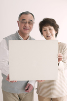 The smile has a message board senior couple Stock photo [3510871] Message