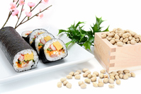 Seafood-rolled sushi and soy Stock photo [3624611] Sushi