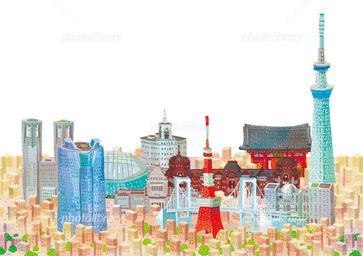 東京の町並み イラスト素材 3726806 フォトライブラリー Photolibrary