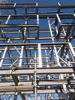 Completion of framework of the building of light-gauge steel Stock photo [3723489] Construction
