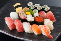 Edo-style sushi stock photo