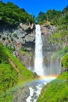 Rainbow across the waterfall of sunlight Kegon Stock photo [3727536] Kegon