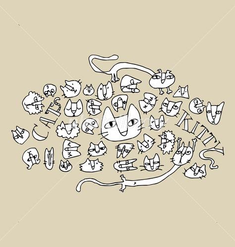 猫の手書きイラスト