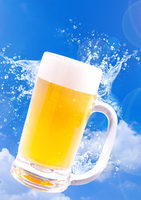 Blue sky and beer Stock photo [3838794] Beer