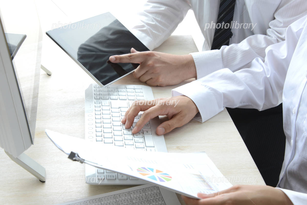 Discussion at the desk - Business Image Photo