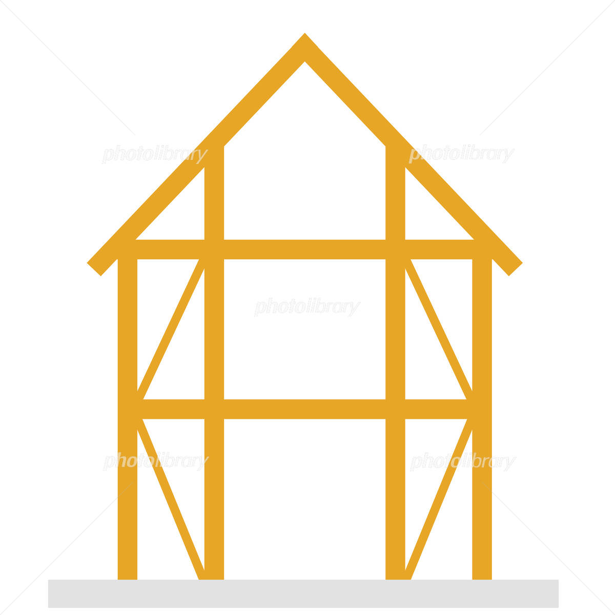 建築中木造の家 イラスト素材 フォトライブラリー Photolibrary