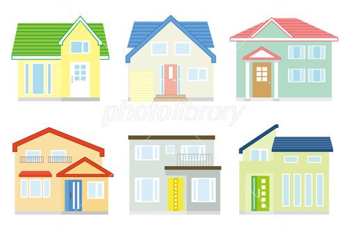 スタンダードな日本の家おしゃれイメージ イラスト素材 3941962