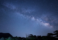 Kirishima plateau and the Milky Way Stock photo [3934279] Kyushu