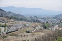SL train of Joetsu Line which runs the river terrace of the Tone River Stock photo [3937010] Tonegawa