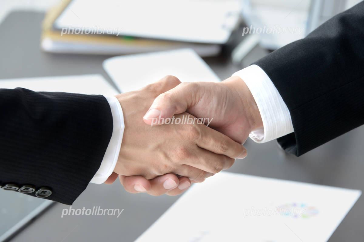 ビジネスイメージ―契約成立の写真