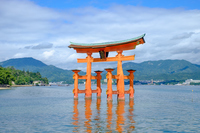 Hiroshima Miyajima World Heritage Itsukushima Shinto Shrine Stock photo [4023205] Itsukushima