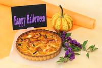 Halloween handmade pumpkin quiche Stock photo [4026359] Halloween