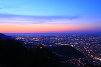 Moiwa observatory of dusk Magic Hour Stock photo [4028991] Mt